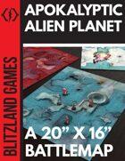 Apokalyptic Alien Planet- A BattleMap - BZL003