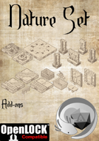 Axolote Tiles - Mine and Ancient Forest - Openlock Compatible