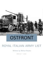 Royal Italian Army List for Ostfront
