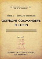 Ostfront Commander's Bulletin - Battalion Operations