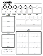 CAPERS Covert Character Sheet