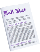 Mall Rat - Solo Roleplaying for Visigoths vs Mall Goths