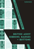 British Army Ribbons, Badges & Buttons Collectable Cards Image Collection