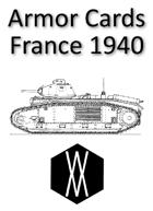 Armored Fist - Armor Cards, France 1940