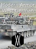 Modern Armor - West German and German Armor Cards