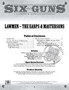Six Guns: Lawmen - The Earps & Mastersons