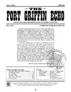 Fort Griffin Echo, Vol. 1, No. 1