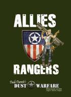 Dust Warfare Cards: Allies - Rangers 1947