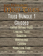Jon Hodgson Map Tiles Bundle 1 Gridded [BUNDLE]