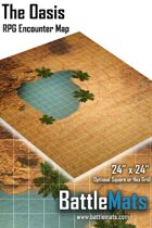 """The Oasis 24"""" x 24"""" RPG Encounter Map"""