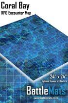 "Coral Bay 24"" x 24"" RPG Encounter Map"