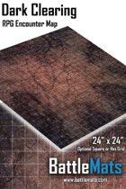 "Dark Clearing 24"" x 24"" RPG Encounter Map"