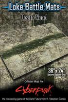 """Death Road 36"""" x 24"""" RPG Encounter Map"""