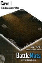 """Cave I 24"""" x 24"""" RPG Encounter Map"""
