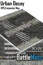 """Urban Decay 24"""" x 24"""" RPG Encounter Map"""