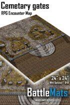 "Cemetary gates 24"" x 24"" RPG Encounter Map"