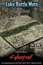 """Death Road 24"""" x 24"""" RPG Encounter Map"""