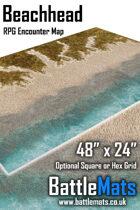 """Beachhead 48"""" x 24"""" RPG Encounter Map"""
