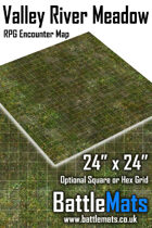 """Valley River Meadow 24"""" x 24"""" RPG Encounter Map"""