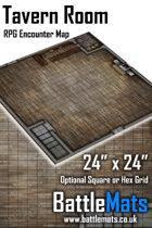 "Tavern Room 24"" x 24"" RPG Encounter Map"