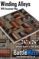 "Winding Alleys 24"" x 24"" RPG Encounter Map"