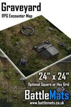 "Graveyard 24"" x 24"" RPG Encounter Map"