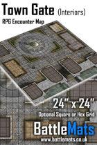 "Town Gate Interiors 24"" x 24"" RPG Encounter Map"