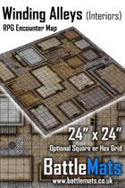 "Winding Alleys Interiors 24"" x 24"" RPG Encounter Map"