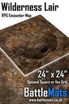 "Wilderness Lair 24"" x 24"" RPG Encounter Map"