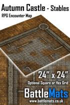"Autumn Castle Stables 24"" x 24"" RPG Encounter Map"