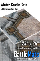 "Winter Castle Gate 24"" x 24"" RPG Encounter Map"