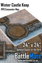 "Winter Castle Keep 24"" x 24"" RPG Encounter Map"