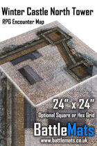 """Winter Castle North Tower 24"""" x 24"""" RPG Encounter Map"""