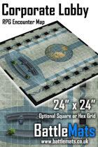 "Corporate Lobby 24"" x 24"" RPG Encounter Map"