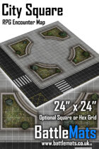"City Square 24"" x 24"" RPG Encounter Map"
