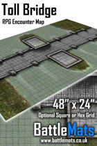 "Toll Bridge 48"" x 24"" RPG Encounter Map"