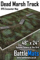 "Dead Marsh Track 48"" x 24"" RPG Encounter Map"
