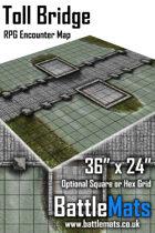 "Toll Bridge 36"" x 24"" RPG Encounter Map"