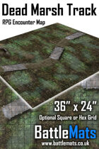 "Dead marsh Track 36"" x 24"" RPG Encounter Map"