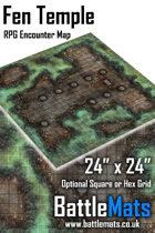 "Fen Temple 24"" x 24"" RPG Encounter Map"