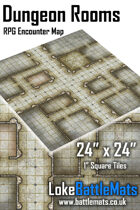 """Dungeon Rooms 24"""" x 24"""" RPG Encounter Map"""