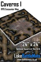 "Caverns I 24"" x 24"" RPG Encounter Map"