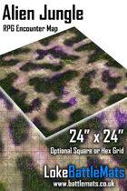 "Alien Jungle 24"" x 24"" RPG Encounter Map"