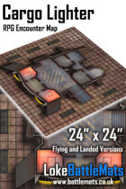 "Cargo Lighter 24"" x 24"" RPG Encounter Map"