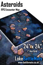 """Asteroid 24"""" x 24"""" RPG Encounter Map"""