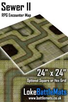 "Sewer II 24"" x 24"" RPG Encounter Map"