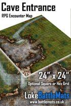 "Cave Entrance 24"" x 24"" RPG Encounter Map"