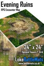 "Evening Ruins 24"" x 24"" RPG Encounter Map"