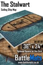 """The Stalwart 36"""" x 24"""" RPG Sailing Ship Map"""