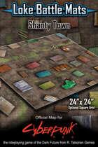 Shanty Town 24 x 24 Cyberpunk RED Map